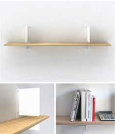 shelves with built-in bookends.  brilliant.