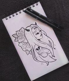 Este posibil ca imaginea să conţină: desen Demon Drawings, Dark Art Drawings, Pencil Art Drawings, Art Drawings Sketches, Cute Drawings, Tattoo Drawings, Drawing Drawing, Sketch Tattoo Design, Arte Sketchbook