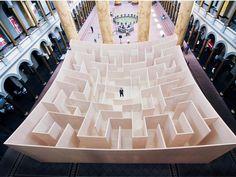 The BIG Maze at the National Building Museum in Washington D.C. | BIG-Bjarke Ingels Group | Bustler