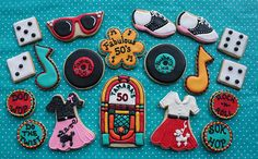 50s party!!!!!!!! cookies