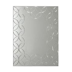 Accentuate any decor style in your home using this Deco Mirror Geo Chic Rectangle Mirror. Wood Glass, Glass Art, Accent Wall Decor, Circle Pattern, Bathroom Mirrors, Wall Mirror, Geo, Decorative Accessories, Decorative Mirrors