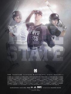 2016 Mississippi State Baseball Poster