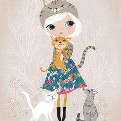 Illustration Rebecca-Jones-Cat-Lover