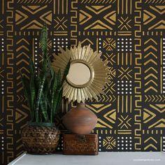 Design Studio, Deco Design, Design Shop, Wall Decor Design, African Interior Design, Interior Design Trends, African Design, African Bedroom, Thasos