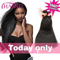 7A Brazilian Hair Weaves Unprocessed Human Hair 8 to 30inch Brazilian Virgin Hair Straight 4 Bundles Hanne Healthy Hair Products