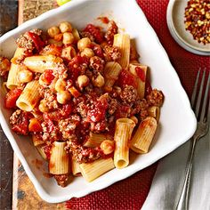 Beef Ragu with Garbanzo Beans From Better Homes and Gardens, ideas and improvement projects for your home and garden plus recipes and entertaining ideas.