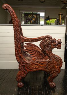 Dragon Chair | From a unique collection of antique and modern armchairs at https://www.1stdibs.com/furniture/seating/armchairs/