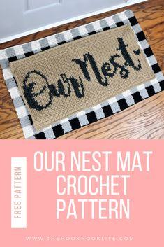 Welcome your guests to your home with this DIY welcome mat free crochet pattern on The Hook Nook blog! Get the full tutorial and how-to from Rachel Alford!