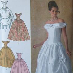 Simplicity pattern 4269 Disney's Belle costume or special occasion gown sizes 6-14. $7.00, via Etsy.