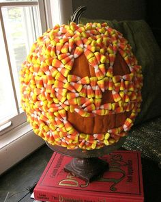 Candy corn covered pumpkin...delicous!