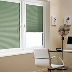 A Green Mint Perfect Fit Pleated Blind it is ideal for PVC windows