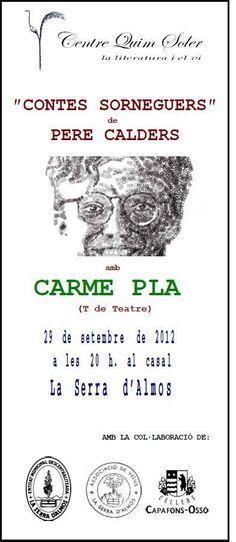 """@centrequimsoler @P_Calders Dissabte quan hauria fet 100 anys, el recordarem al Priorat amb """"Contes sorneguers"""" i la Carme Pla Conte, Words, Literatura, Horse"""