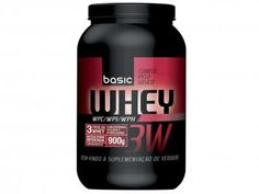 Whey Protein 3W 900g Morango - Basic Nutrition