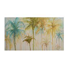Watercolor Palms Canvas Art Print | Kirklands