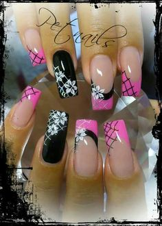 french nails for wedding Colour French Nail Art, French Nail Designs, Pink Nail Designs, Beautiful Nail Designs, Beautiful Nail Art, Acrylic Nail Designs, Fabulous Nails, Gorgeous Nails, Toe Nails