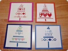 Noch mehr DIY Weihnachtskarten: Washi Tape