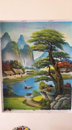 Chinese Landscape Painting, Pastel Landscape, Landscape Drawings, Fantasy Landscape, Watercolor Landscape, Landscape Art, Landscape Paintings, Indian Art Paintings, Nature Paintings