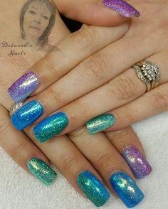 Rainbow glitter ombre - Nailpro