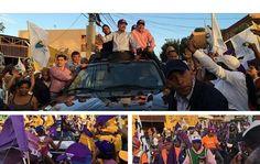 El presidente Danilo Medina movilizó este miércoles todo el sector de Santo domingo Oeste con una marcha caravana que recorrió los principales barrios de la zona.