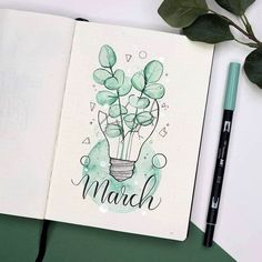 Bullet Journal March Cover Pages You'll Want to Steal! Bullet Journal Cover Ideas, March Bullet Journal, Bullet Journal Writing, Bullet Journal School, Bullet Journal Aesthetic, Bullet Journal Spread, Bullet Journal Inspo, Bullet Journal Layout, Journal Covers