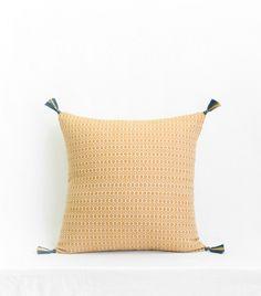 Ethnic woven pillows, embroidered, printed handmade in India - JAMINI Bleu Indigo, Style Retro, Parisian Chic, Pillow Talk, Mustard Yellow, Boho Chic, Textiles, Throw Pillows, Prints