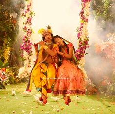 Image may contain: one or more people, people dancing, people standing and outdoor Krishna Songs, Radha Krishna Holi, Krishna Flute, Radha Krishna Quotes, Radha Krishna Pictures, Radha Rani, Krishna Photos, Krishna Art, Radhe Krishna Wallpapers