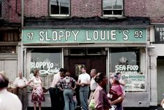 92 South Street, NYC (near The Fulton Fish Market), early 1970's. Everything looks cooler with age, especially New York.