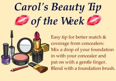 "Here is this week's beauty tip. Do you have any makeup or beauty questions you would like me to answer? Post your question here or on my facebook page and I may answer it in a future ""tip of the week"". #concealer #foundation #makeup #beauty"