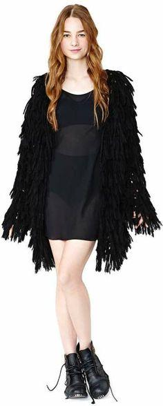 Nasty Gal Nicole Miller Midnight Whispers Slip Dress on shopstyle.com