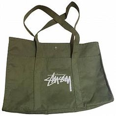 Buy your tote Stussy on Vestiaire Collective, the luxury consignment store online. Second-hand Tote Stussy Green in Cotton available. Stussy, Green Cotton, Luxury Consignment, Handbags, Tote Bag, Lady, Stuff To Buy, Women, Fashion