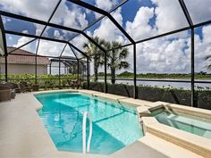 SOLD! What a great pool and lanai to hang out on Labor day! Ave Maria pool home $225,000 granite counters, lake view, wood floors, 3/2