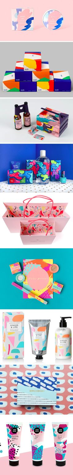 Splash of colors packaging
