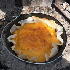 Dutch Oven Mountain Man Breakfast  precook bacon or sausage, chop veggies. mix eggs and store in secure container.