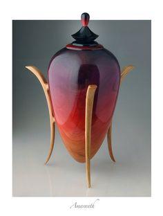 Amaranth Crimson wood vessel created by...John Popiel.