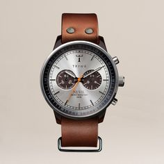 Havana Brown Nevil Watch by TRIWA: I like the time piece but not to crazy about the leather strap
