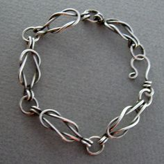 MEN'S HANDCRAFTED STERLING SILVER BRACELET - CONNECTIONS