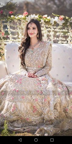 Exclusive Collection of Pakistani Bridal Dresses Online by Pakistani Designers to Buy for Pakistani Brides looking for a Traditional or Contemporary Bridal & Wedding Dresses. Asian Wedding Dress, White Bridal Dresses, Pakistani Wedding Outfits, Indian Bridal Outfits, Pakistani Bridal Dresses, Pakistani Wedding Dresses, Walima Dress, Bridal Lehenga, Pakistani Engagement Dresses