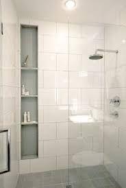 white rectangular tile shower - Google Search