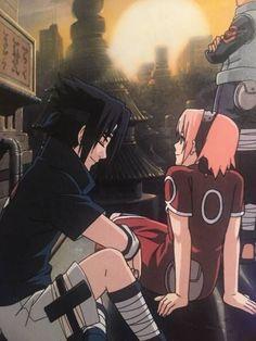 Imagem de sasuke, sakura, and anime