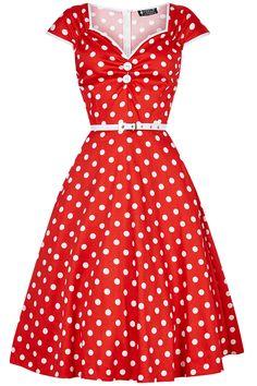 Red Polka Dot Isabella Dress