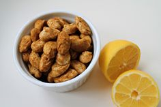 Mandler med hvid chokolade, lakrids og citron, færdige mandler, april 2013