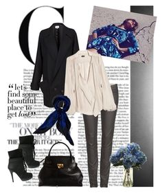 """""""Blue-tiful"""" by polybot ❤ liked on Polyvore featuring AllSaints, Giuseppe Zanotti, Marc Jacobs, Chalayan, By Malene Birger and Jaeger"""