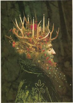 """The Yule or Holly King, by Michael Kerbow. The Yule or Holly King is an ancient holiday figure also known as the Yule Spirit, or Winter King. From Amazing Artworks by Michael Kerbow"""" Holly King, Sabbats, Father Christmas, Pagan Christmas, Merry Christmas, Christmas Blessings, Magical Christmas, Christmas Traditions, Winter Solstice"""