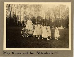 May Queen and her Attendants 1916 :: Archives & Special Collections Digital Images