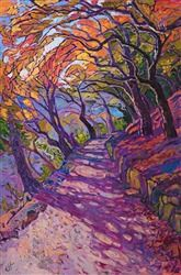 Mosaic path colorful oil painting by modern impressionist painter Erin Hanson - - Mosaic path colorful oil painting by modern impressionist painter Erin Hanson Malerei Landscape Art, Landscape Paintings, Art Paintings, Abstract Paintings, Indian Paintings, Painting Art, Painting Lessons, Nature Oil Painting, Famous Artists Paintings
