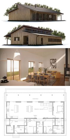Modular Home Plan, Shipping container house plan, prefab house design, interior deco Modern House Plans, Small House Plans, House Floor Plans, Modular Home Plans, Barn Home Plans, Small Contemporary House Plans, Plans Architecture, Casas Containers, Roof Design