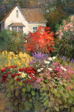 """Garden of Beauty""  36"" x 24""	  Kent R. Wallis  Oil on canvas"