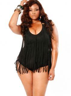 Plus Size Trendy Swimsuits, Plus Size Swimwear, Plus Size High Waisted Bikini By Monif C. - Monif C