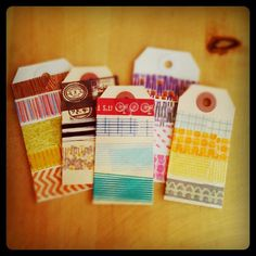 Use masking tape on gift tags! [ From: http://www.kellypurkey.com ]
