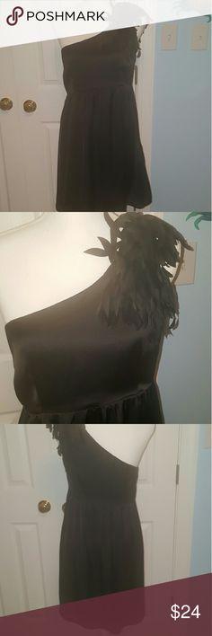 Francescas one shoulder little black dress M Excellent for formal or fun wear. Size medium. Polyester, has a lining. Excellent condition. Francesca's Collections Dresses One Shoulder
